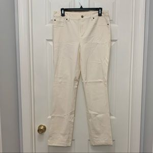 Chico's - Cream Regular Fit Pants
